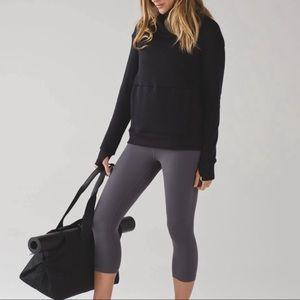Lululemon Kick The Cold Black Sweater Size 4